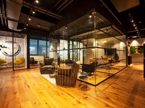 חדר הרצאות בפנתרה - Panthera - חלל עבודה בתל אביב יפו