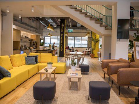 חדר ישיבות בווי-וורק דאונטאון חיפה - WeWork Downtown Haifa - חלל עבודה בחיפה