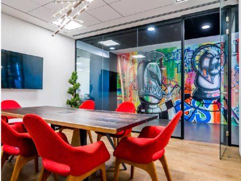 חדר הרצאות בטראפיק לורדס - Traffic Lords - חלל עבודה ברמת גן