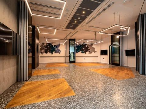 חדר הרצאות באדגר קונפרנס 360 - Adgar Conference 360 - חלל עבודה בתל אביב